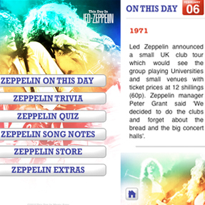 Led Zeppelin iPhone/iPad App Released