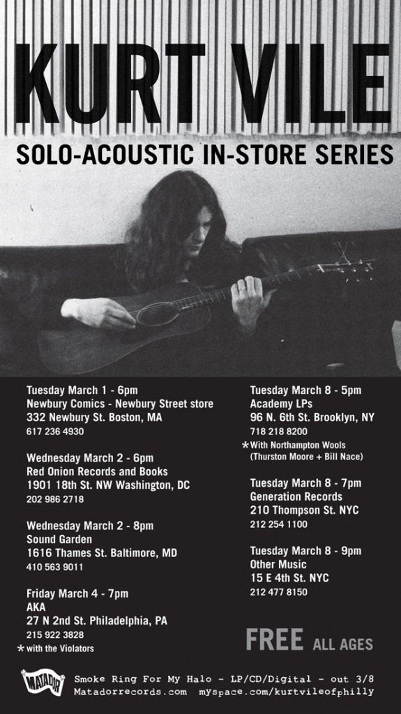 Kurt Vile Announces In-Store Tour, J Mascis Support Dates