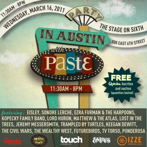 Party in Austin With Paste - March 16, 2011