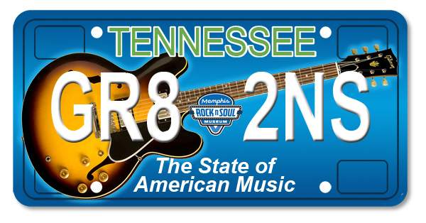 """Tennessee Gets New """"Musical"""" License Plate"""