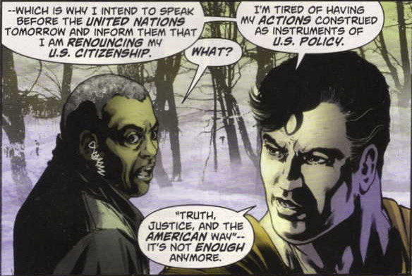 Superman Renounces U.S. Citizenship
