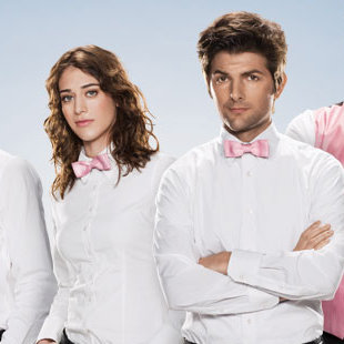 <em>Party Down</em> Stars Adam Scott, Lizzy Caplan Reunited in Will Ferrell-Produced Comedy