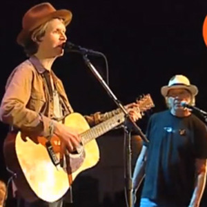 Watch Neil Young Perform with Beck, Arcade Fire, More