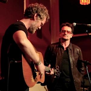 Watch Bono Sing With Glen Hansard at NY's Living Room