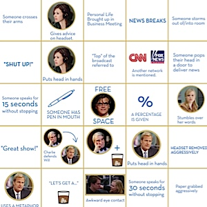 Infographic: <i>The Newsroom</i> Bingo