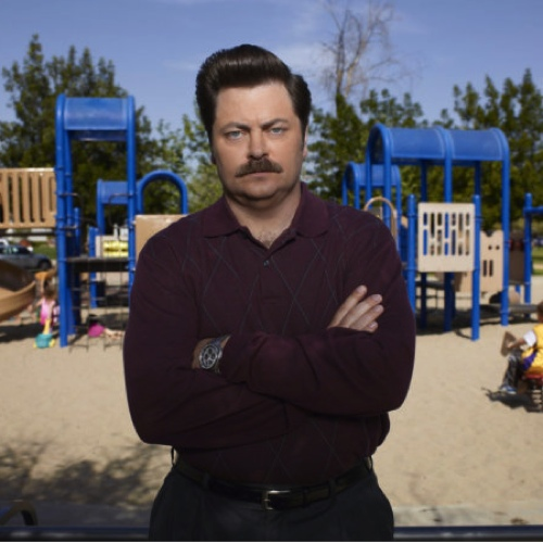ALERT: Nick Offerman Now Has Chinstrap, No Mustache