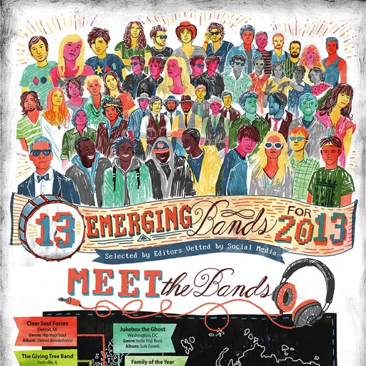 Infographic: 13 Emerging Bands for 2013