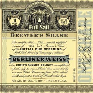 Full Sail Brewer's Share Berliner Weiss Review