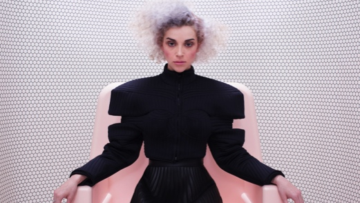 "St. Vincent Performs ""Digital Witness,"" ""Birth in Reverse,"" Gets Interviewed on <em>The Colbert Report</em>"