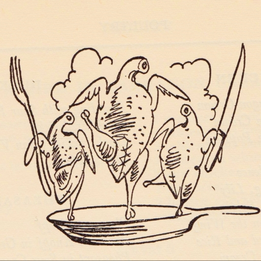 Our Salute to Vintage Cookbook Spot Illustrations