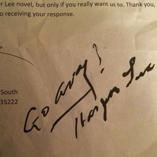 Go Away! Harper Lee Tells Reporter to Buzz Off