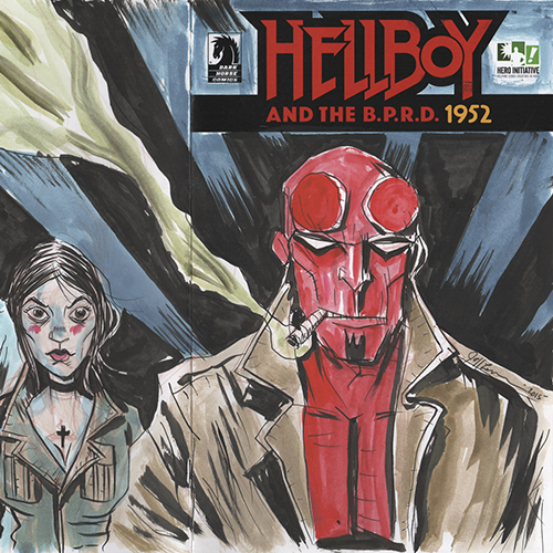 Exclusive: Jeff Lemire and Ted McKeever Reveal <i>Hellboy</i> Covers for Hero Initiative Auction