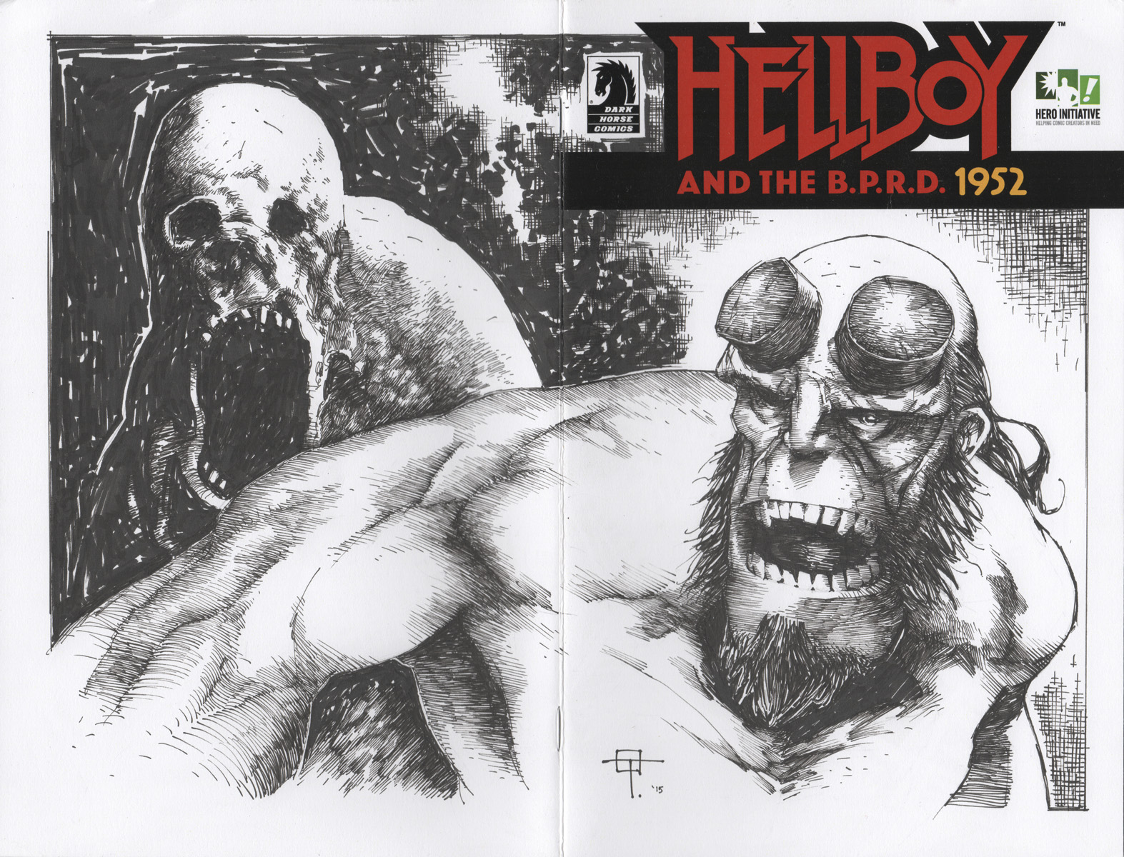 Exclusive: Jeff Lemire and Ted McKeever Reveal Hellboy Covers for