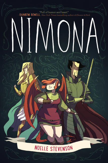 Nimona by Noelle Stevenson -  The 29 Best YA Book Covers of 2015 as Chosen by Epic Reads Designers