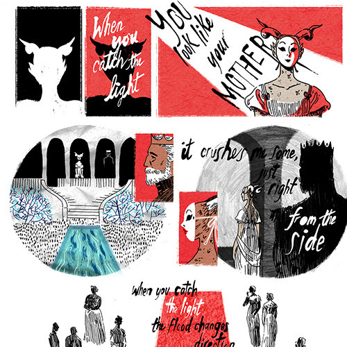 """Songs Illustrated: Neko Case's """"Wild Creatures"""" by Emily Carroll"""