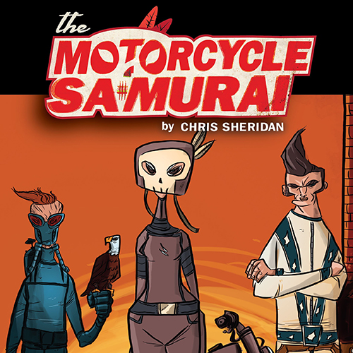 Chris Sheridan Revs Up His Digital-to-Print Western Mashup, <i>Motorcycle Samurai</i>