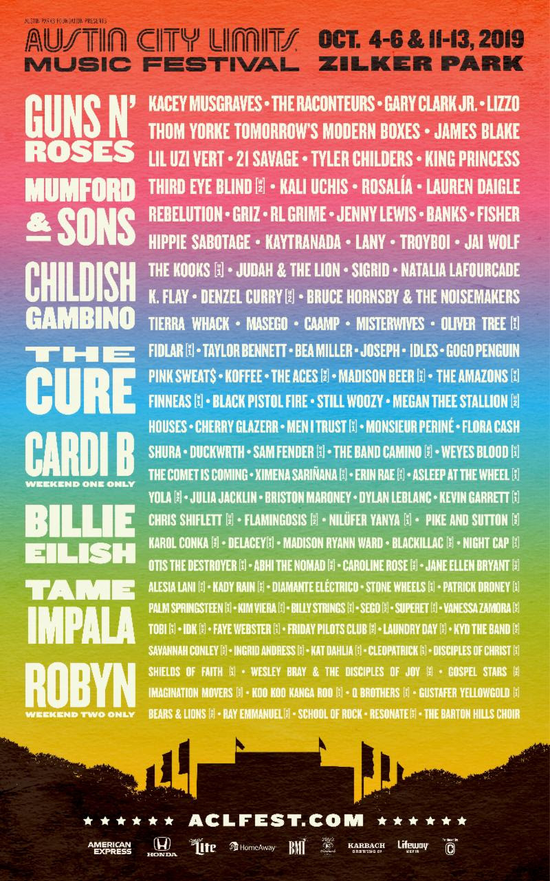 Austin City Limits 2019 Lineup Announced: Childish Gambino
