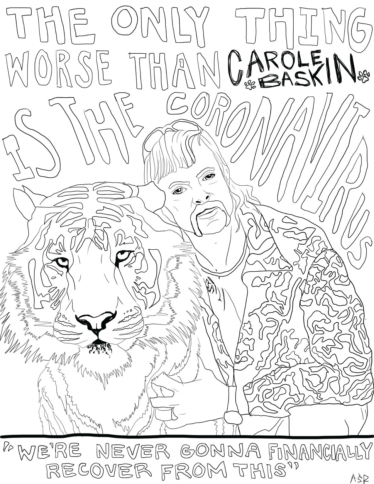 Best Quarantine Coloring Pages Tiger King Mamma Mia More Paste