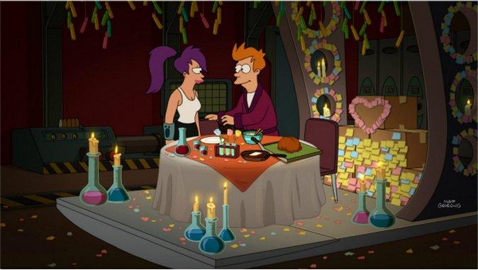 """<em>Futurama</em>: """"2-D Blacktop""""/""""Fry and Leela's Big Fling"""" (Episodes 7.14/7.15)"""