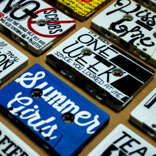 Artist turns Cassettes into Canvases with The ABCs of 90s Throwback