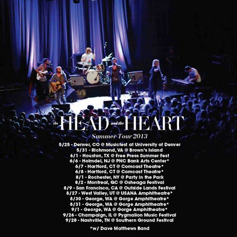 and the Heart released its summer 2013 tour dates via Facebook today