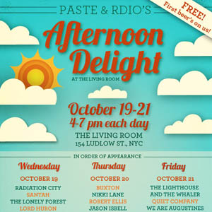 Paste and Rdio Announce New York Showcase, 'Afternoon Delight'
