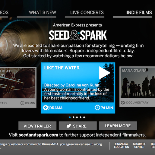 American Express, Seed&Spark to Distribute Indie Films