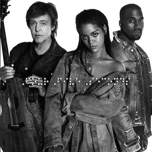 "Rihanna, Kanye West and Paul McCartney Release New Track ""FourFiveSeconds"""