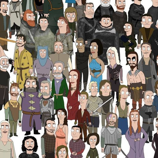 An Internet Genius Drew Every <i>Game of Thrones</i> Character in the Style of <i>Bob's Burgers</i>