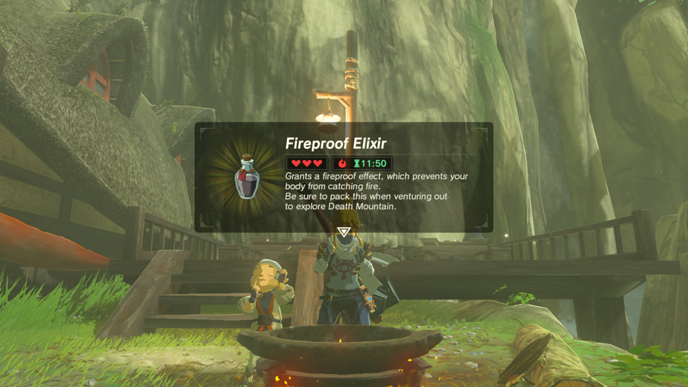 how to make fire resistance potion botw