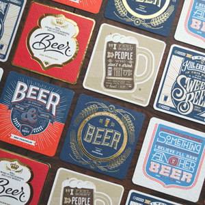 Letterpressed Beer Coasters Feature Famous Quotes From Musicians, Actors