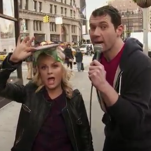 "Watch Amy Poehler Wear a Pitbull Disguise in Latest ""Billy on the Street"""
