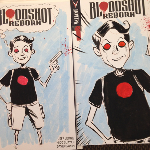 Win One of Jeff Lemire's Hand-Drawn <i>Bloodshot Reborn</i> Covers!