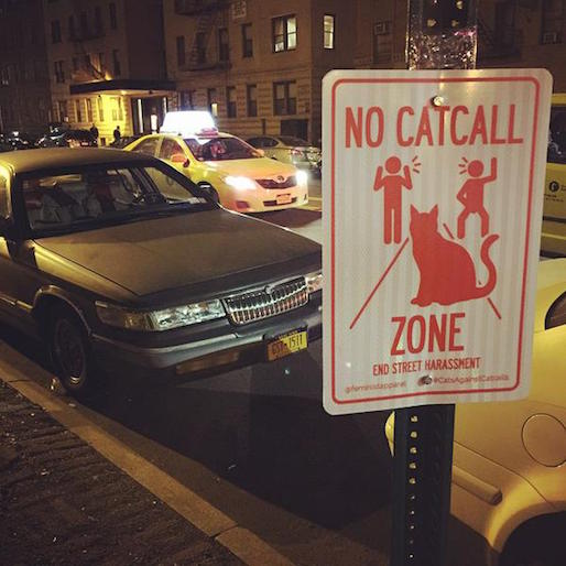 """""""No Catcalling Zone"""" Street Signs Posted Around New York City and Philadelphia"""