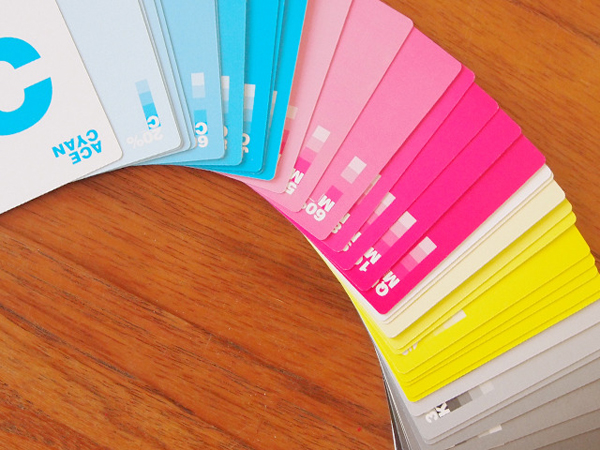 CMYK Playing Cards Replace Suits with Shades of Color