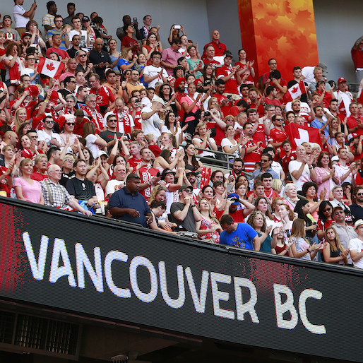 A fan—and banner's—long journey across Canada for the Women's World Cup
