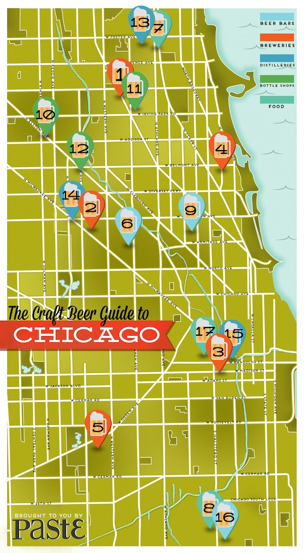 Illinois Brewery Map The Craft Beer Guide To Chicago :: Drink :: Craft Beer :: Page 1