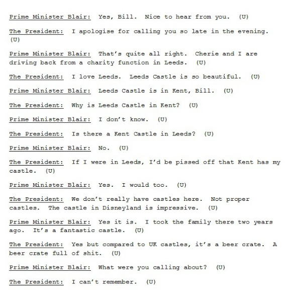 this tumblr featuring fake tony blair bill clinton conversations
