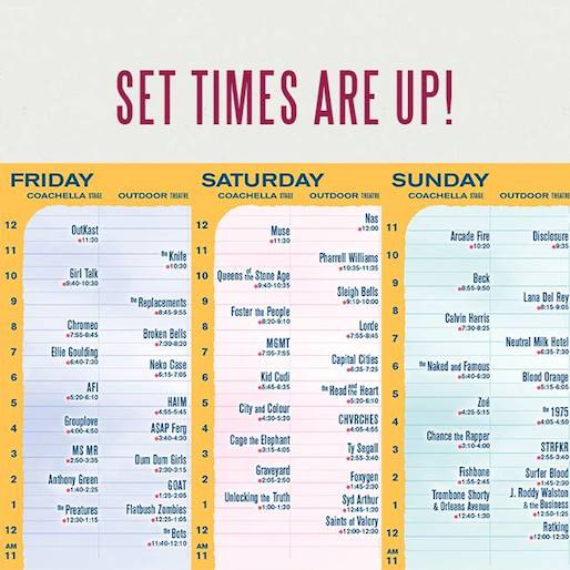 Coachella Announces Schedule, Adds Pixies and Julian Casablancas to Lineup