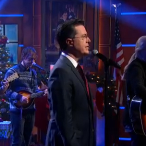 "Colbert Joins Gregg Allman, The National for ""Silver Bells"""