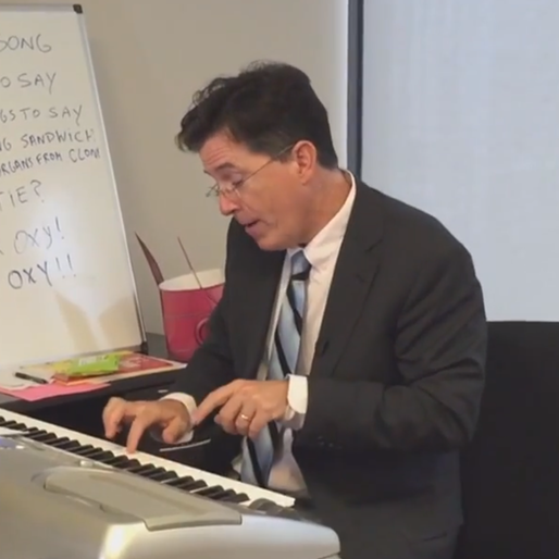We Have a Stephen Colbert Sighting, and He's Writing Music