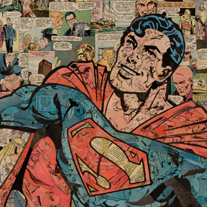 Superhero Collages Created Using Just Glue, Old Comics