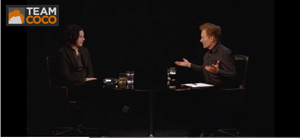 """Watch Conan O'Brien and Jack White's """"Serious Jibber Jabber"""""""