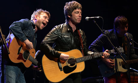 Watch Noel Gallagher Perform with Blur's Damon Albarn and Graham Coxon