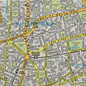 Fictional Street Maps Based on Song and Film Titles