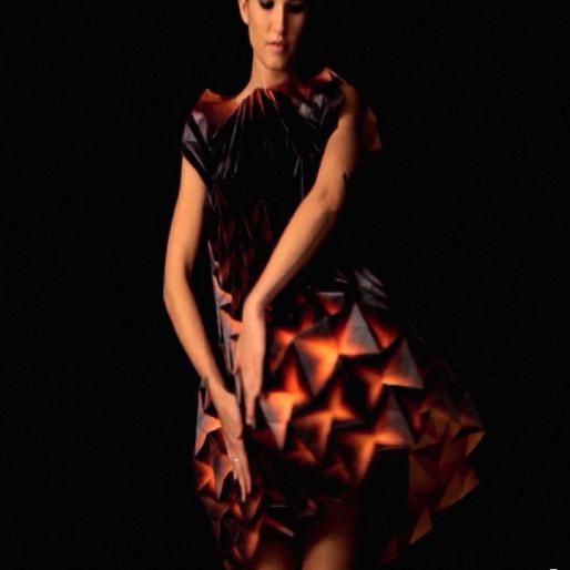 3-D Origami Dresses for Berksha