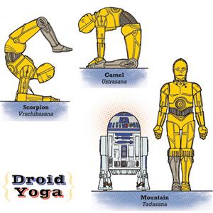 Artist Creates <i>Star Wars</i> Yoga Prints