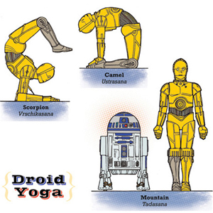 Artist Creates <i>Star Wars</i> Yoga Prints