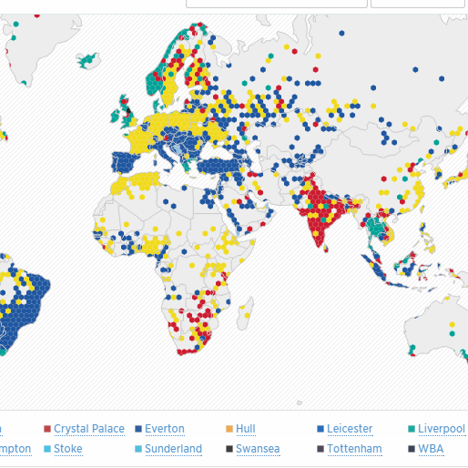 Twitter Releases Awesome Interactive Map Of Premier League Fans
