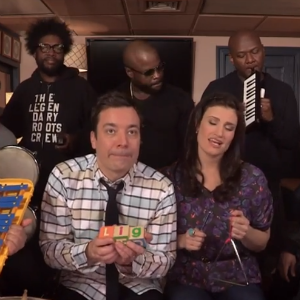 "Watch Idina Menzel, Jimmy Fallon and The Roots Play an Elementary School Cover of ""Let It Go"""
